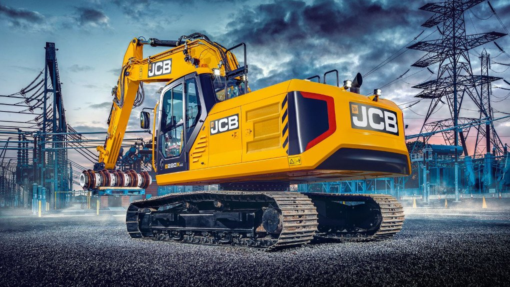 JCB xseries 220x excavator rear